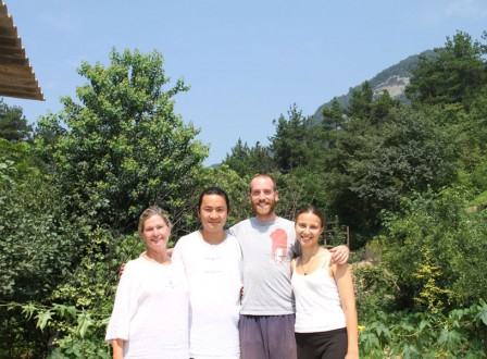 Derek lisiming and students in Wudang mountains